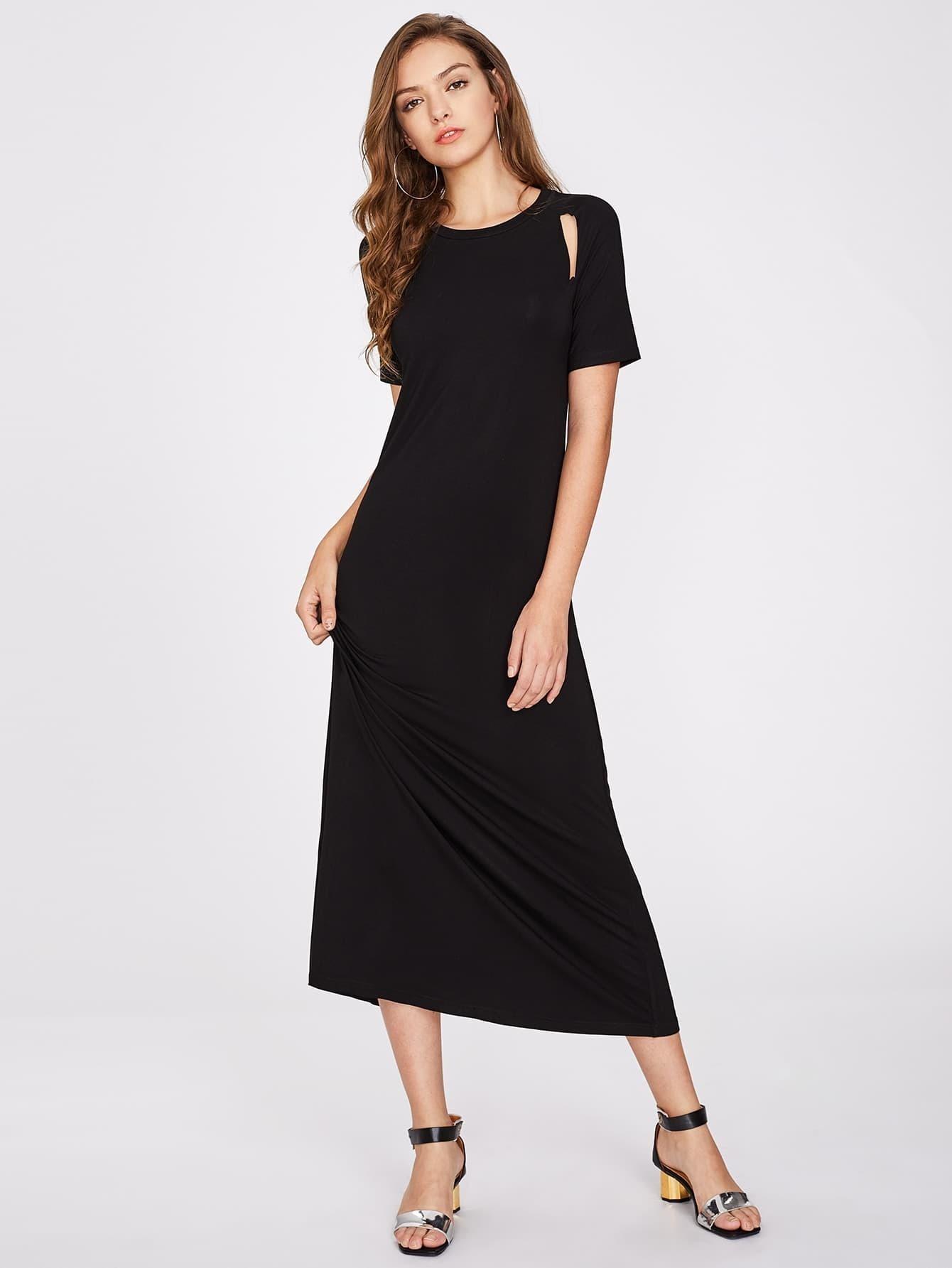 Фото Cutout Vented Back Dress. Купить с доставкой