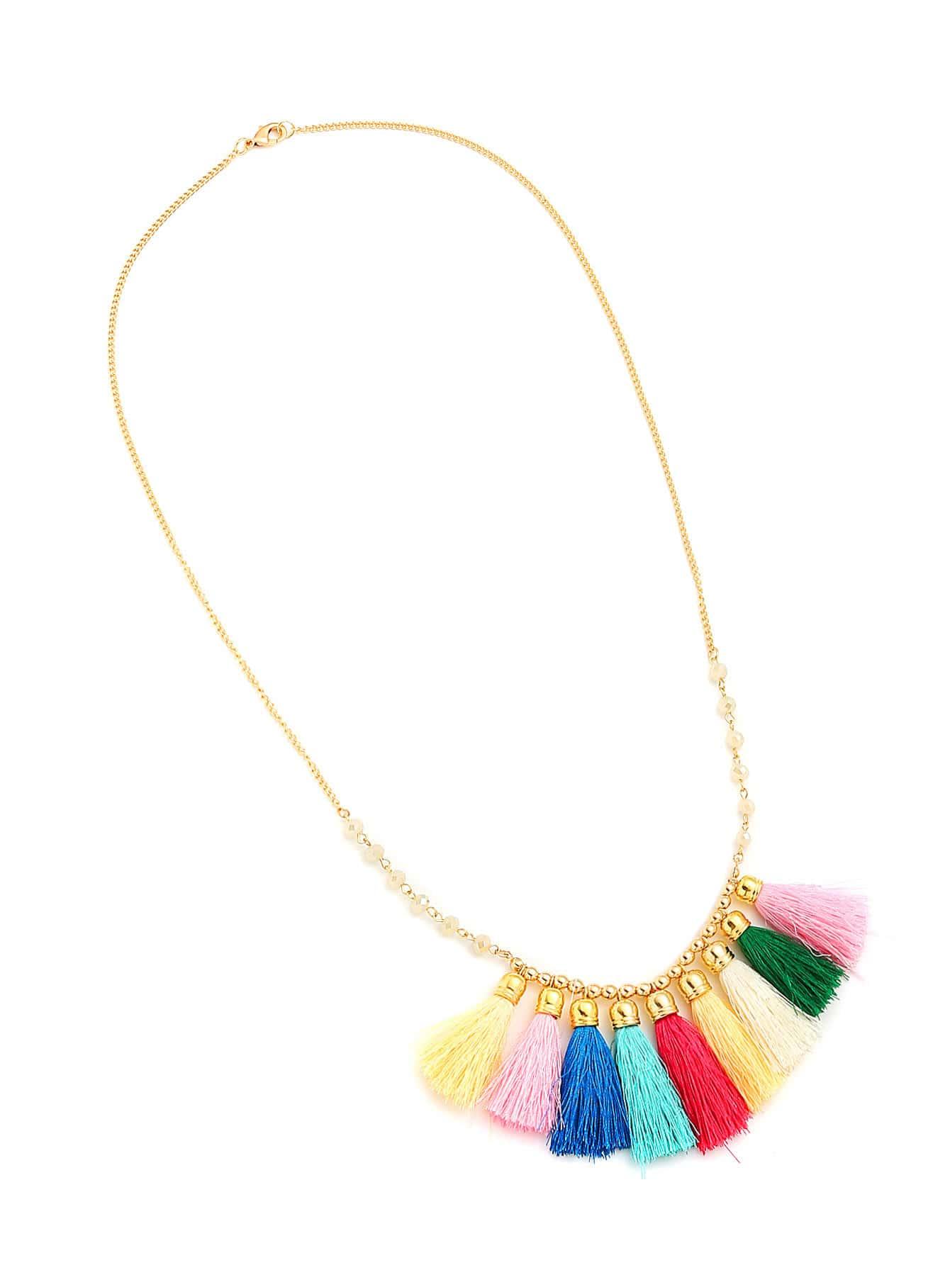 Фото Tassel Pendant Chain Necklace. Купить с доставкой