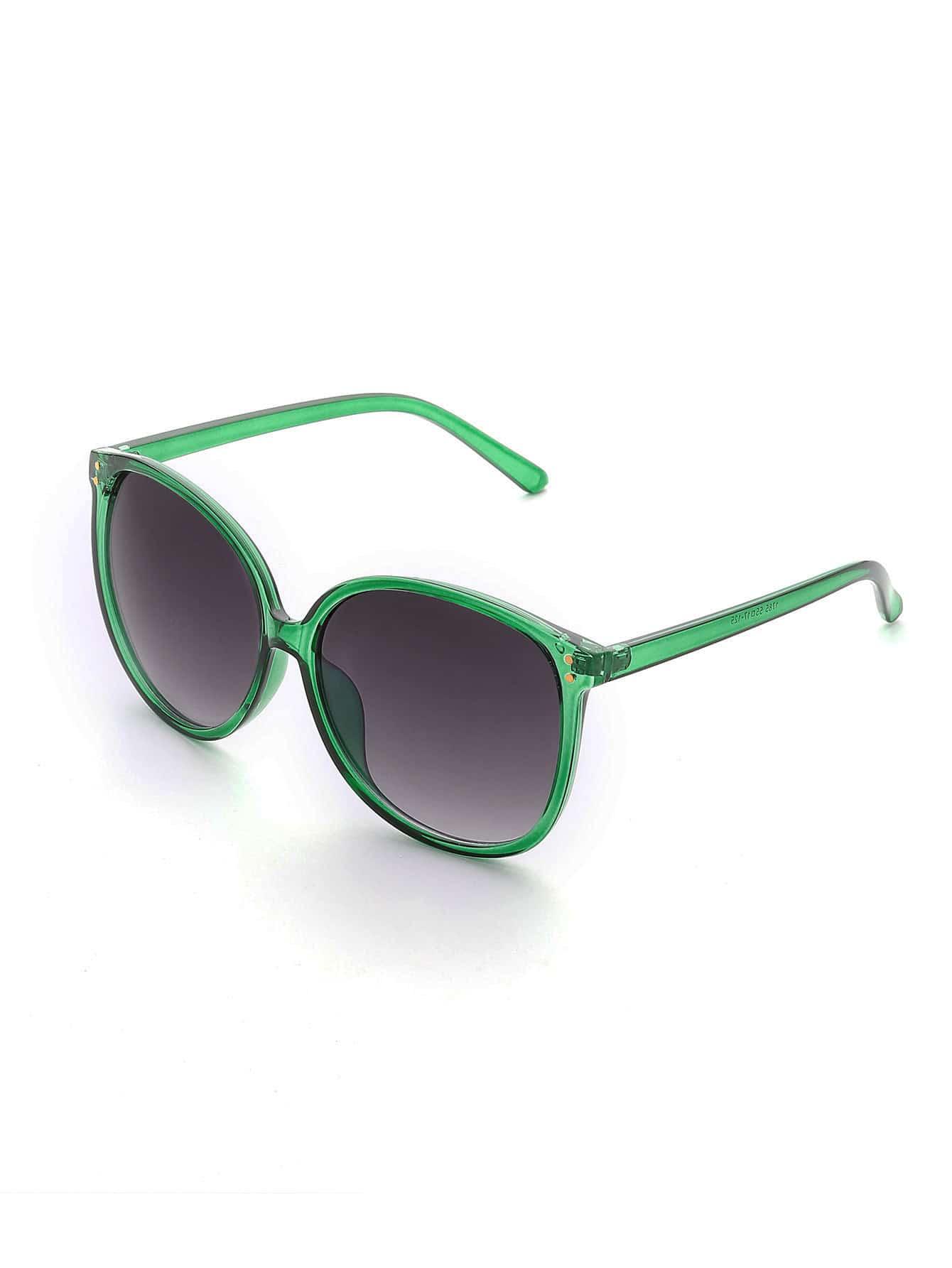 Фото Contrast Frame Oversized Sunglasses. Купить с доставкой