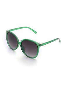 Contrast Frame Oversized Sunglasses