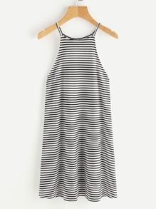 Striped Racer Cami Dress