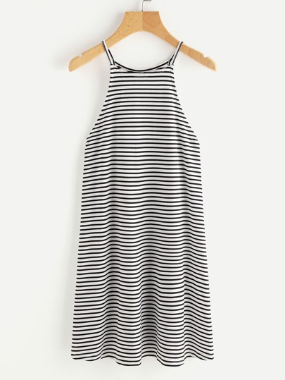 Striped Racer Cami Dress