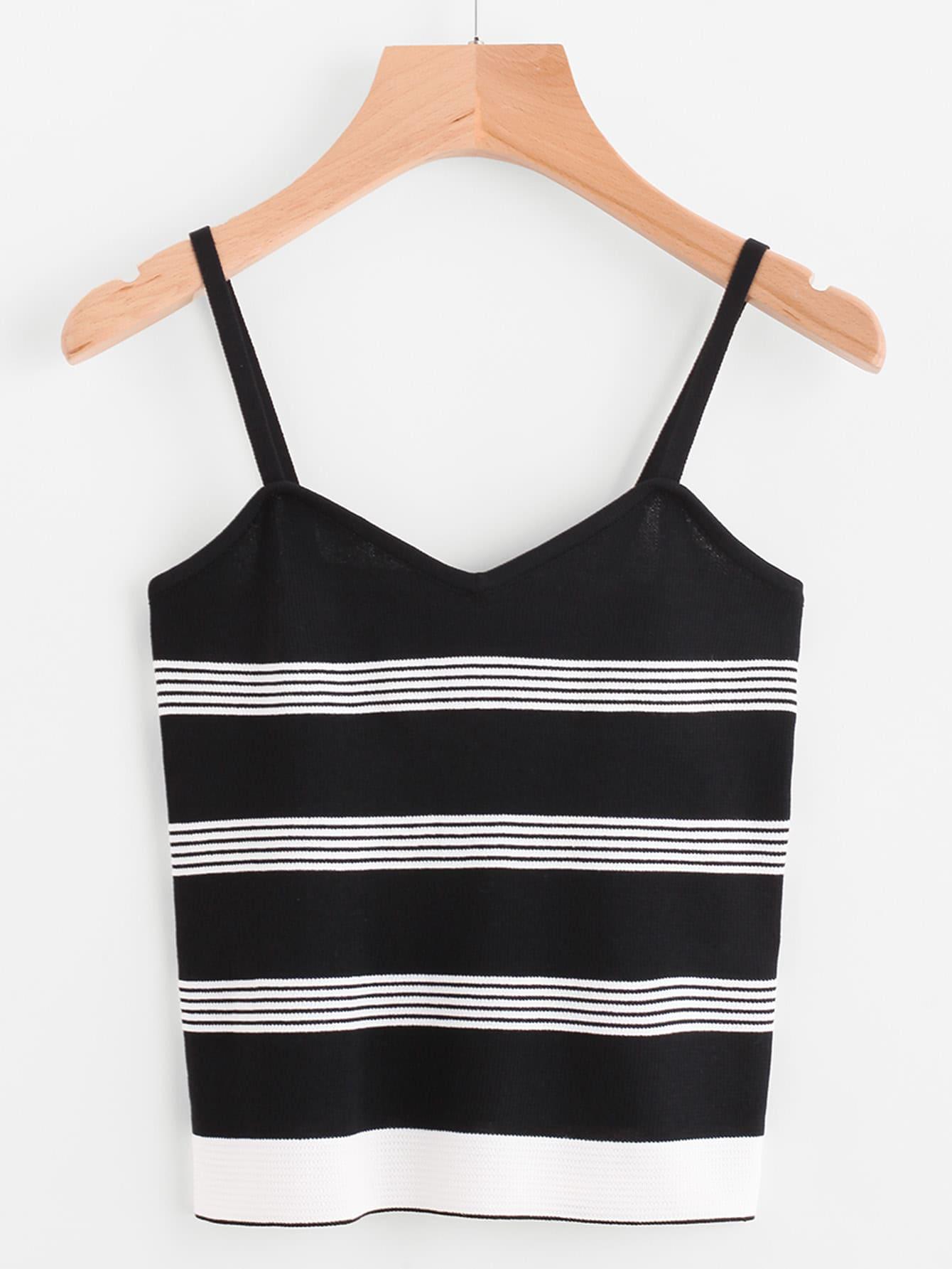 Striped Jersey Cami Top vest170719301