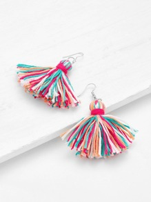 Glamorous Tassel Drop Earrings