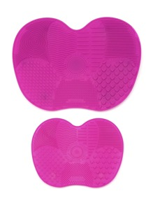 Makeup Brush Cleaning Mat With Sucker 2pcs