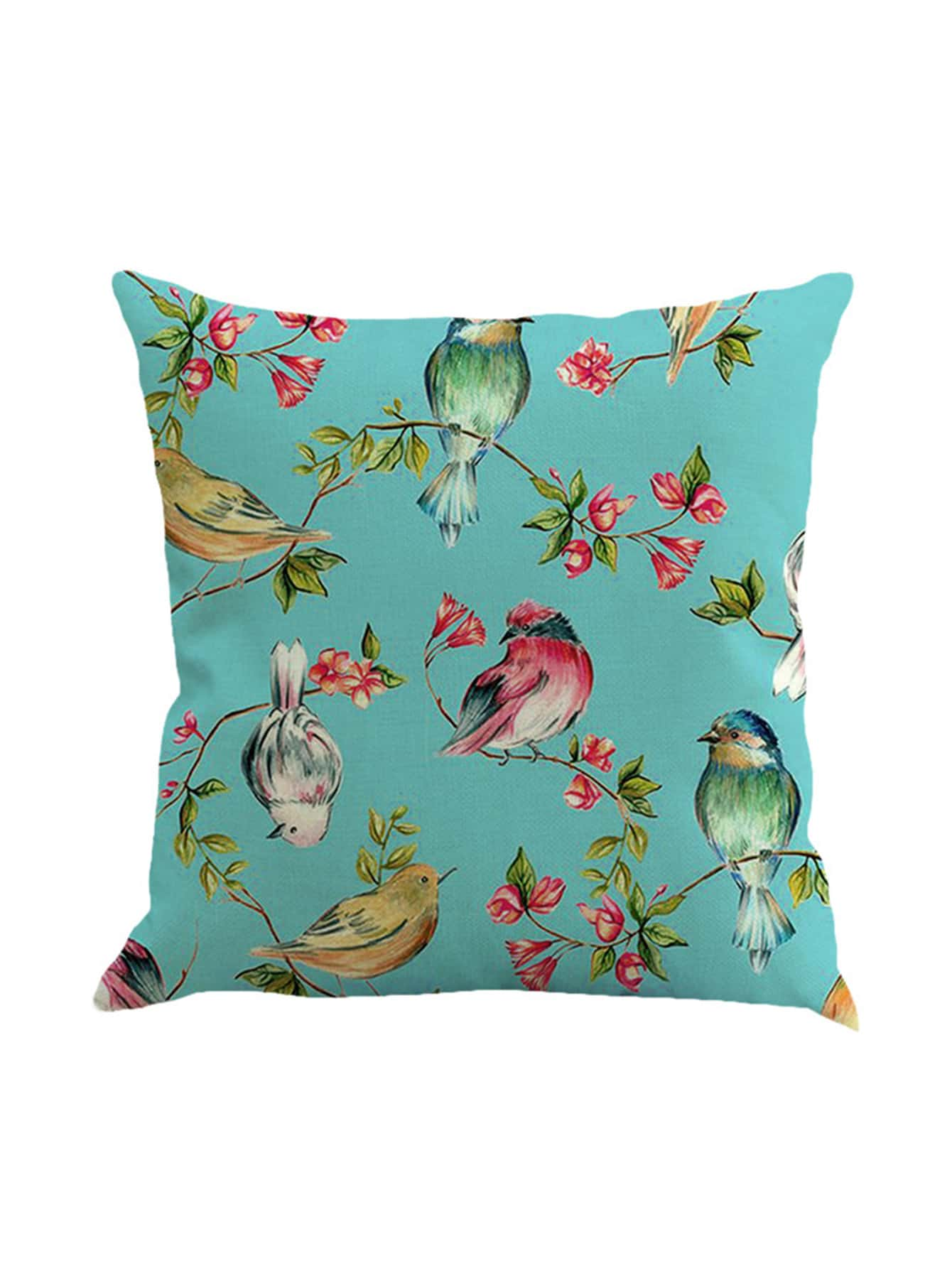 Image of Bird Print Pillowcase Cover