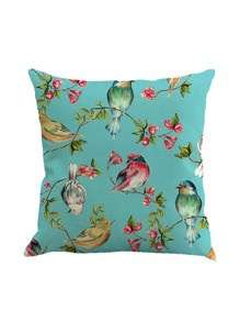 Bird Print Pillowcase Cover