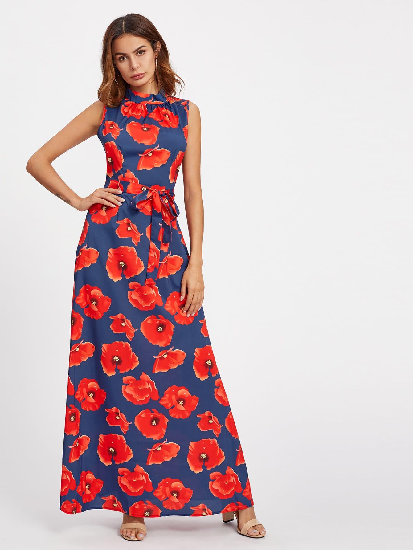 All Over Florals Self Tie Full Length Dress peter block stewardship choosing service over self interest