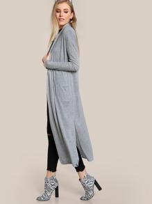 Drop Sleeve Maxi Sweater GREY