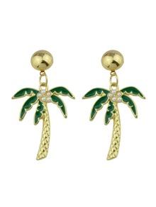 Realistic Coconut Tree Pearl Earrings Earrings