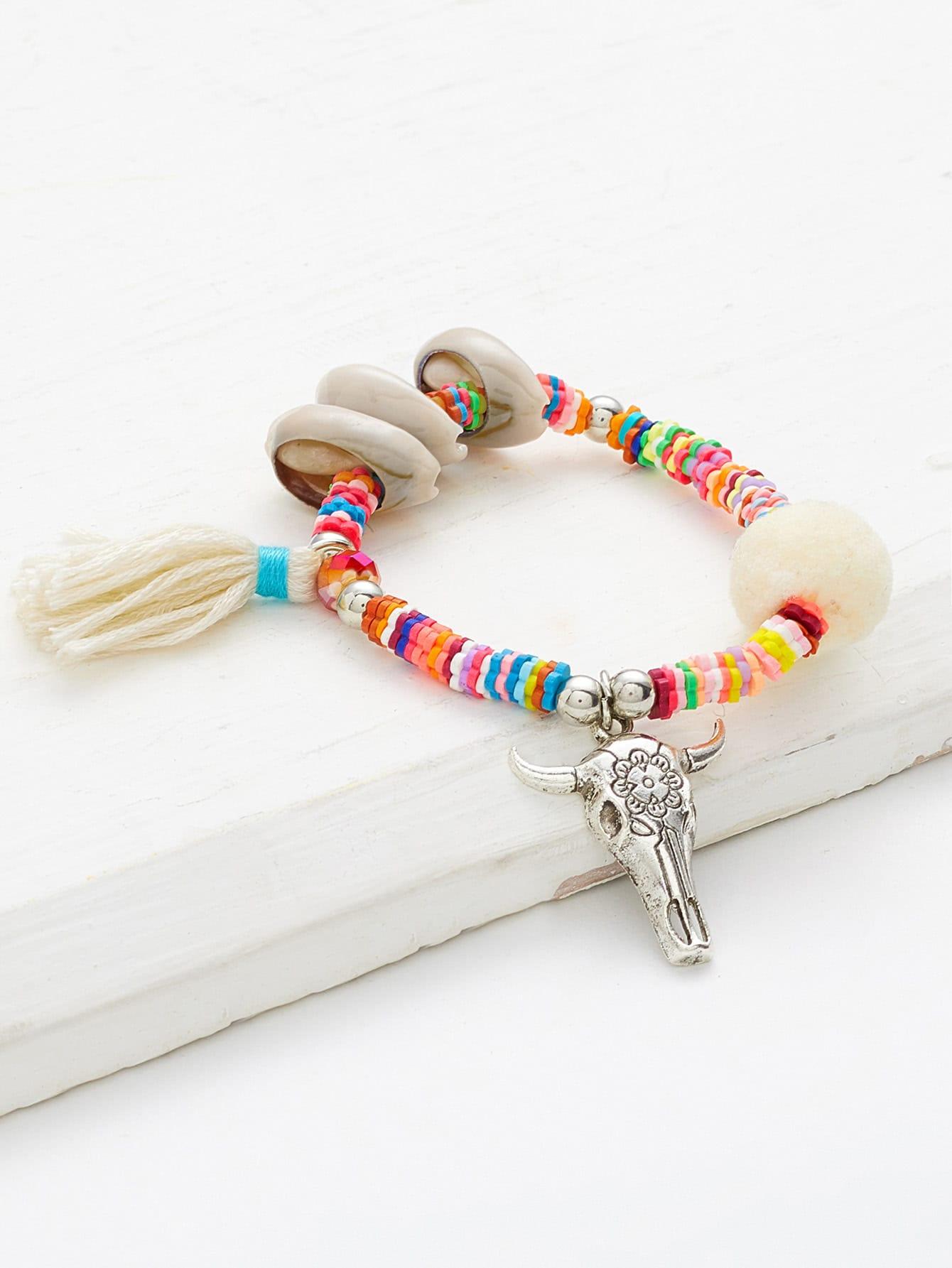 Фото Shell & Tassel Decorated Charm Bracelet. Купить с доставкой