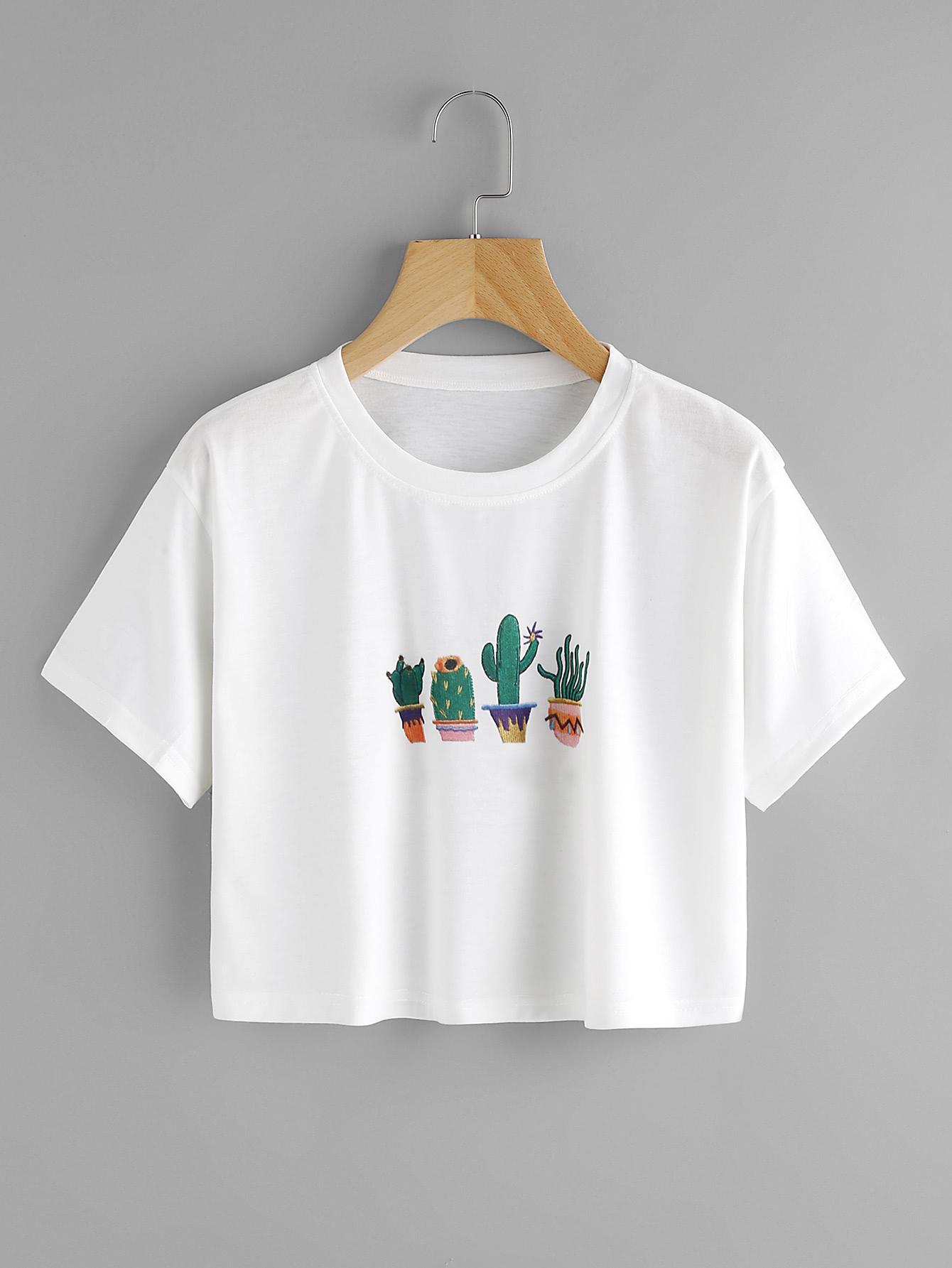 Фото Cactus Print Tee. Купить с доставкой