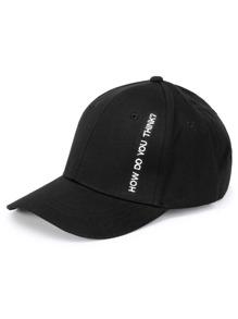 Gorra de béisbol con estampado de solgan