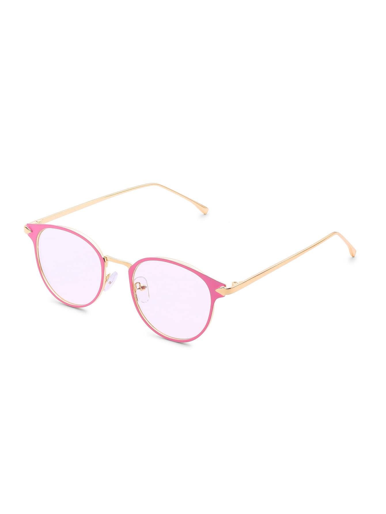 Фото Contrast Frame Tinted Lens Glasses. Купить с доставкой