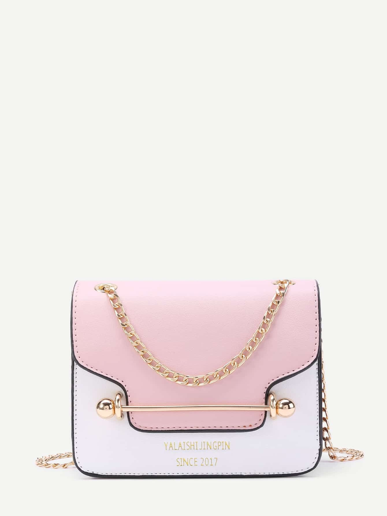 Piping Detail Flap PU Chain Bag flap pu chain bag