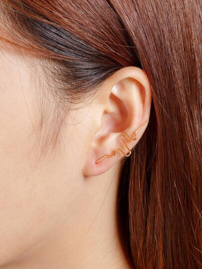 Minimalist Curve Design Ear Crawler 1pc