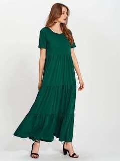 Tiered Detail Maxi Dress