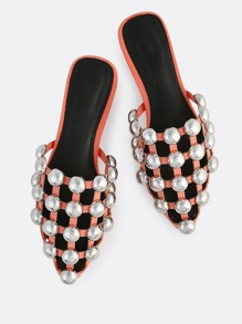 Caged Cut Out Slides CORAL