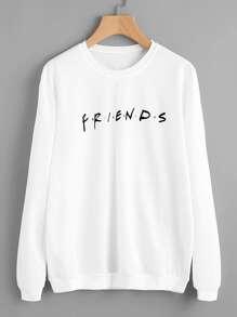 Letter Print Sweatshirt