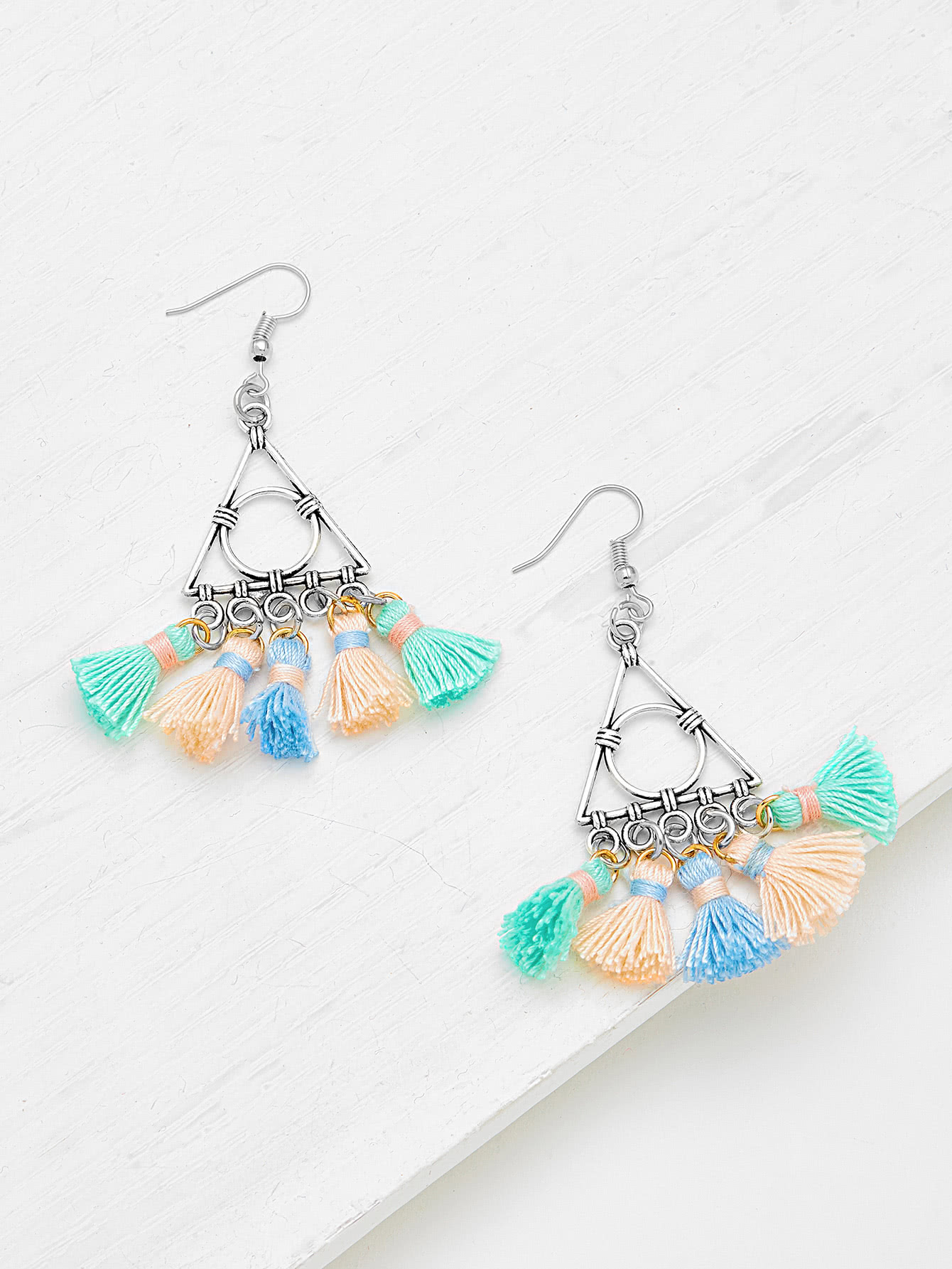 Фото Glamorous Multi Tassel Statement Earrings. Купить с доставкой