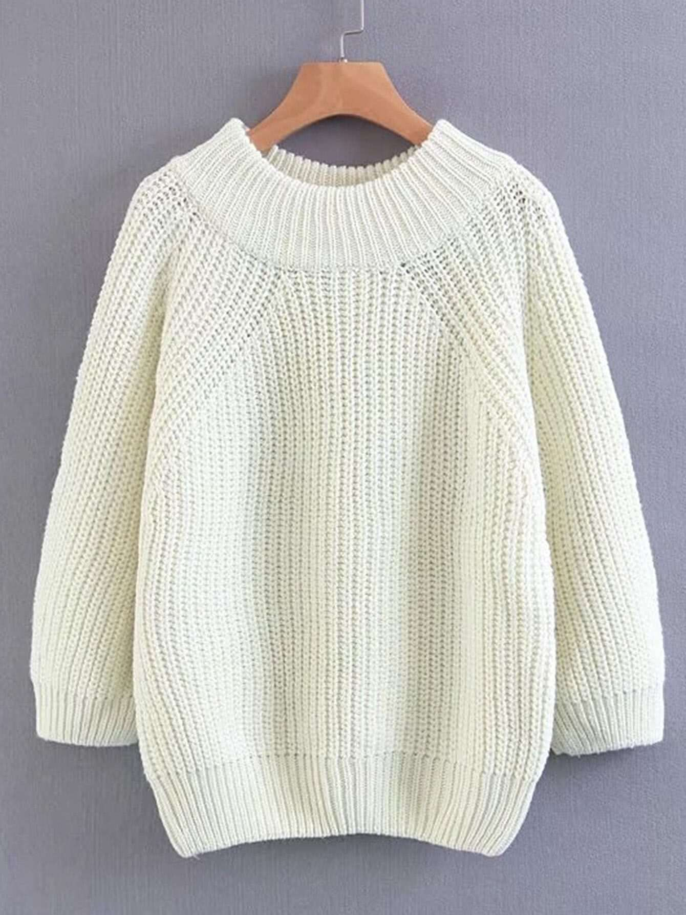 Ribbed Trim Loose Sweater