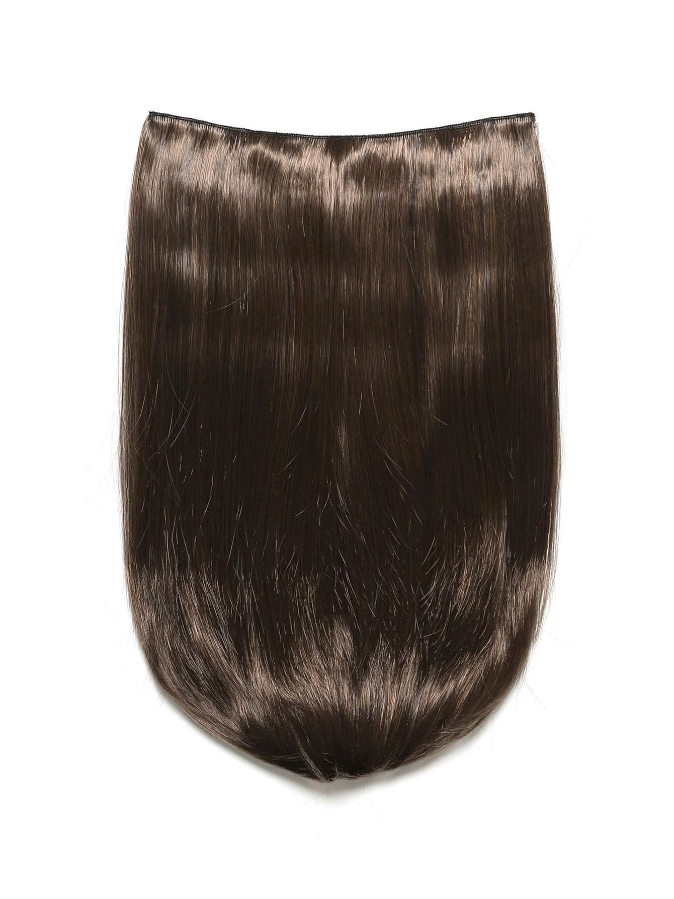 Фото Warm Brunette Clip In Straight Hair Extension. Купить с доставкой