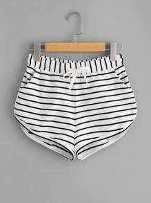 Pantaloni a strisce con fondo