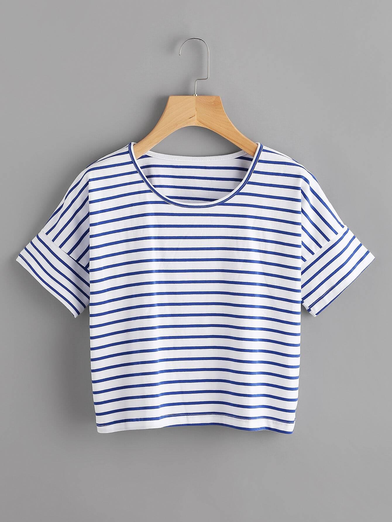 Фото Striped Crop T-shirt. Купить с доставкой