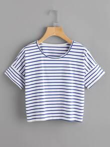 Striped Crop T-shirt