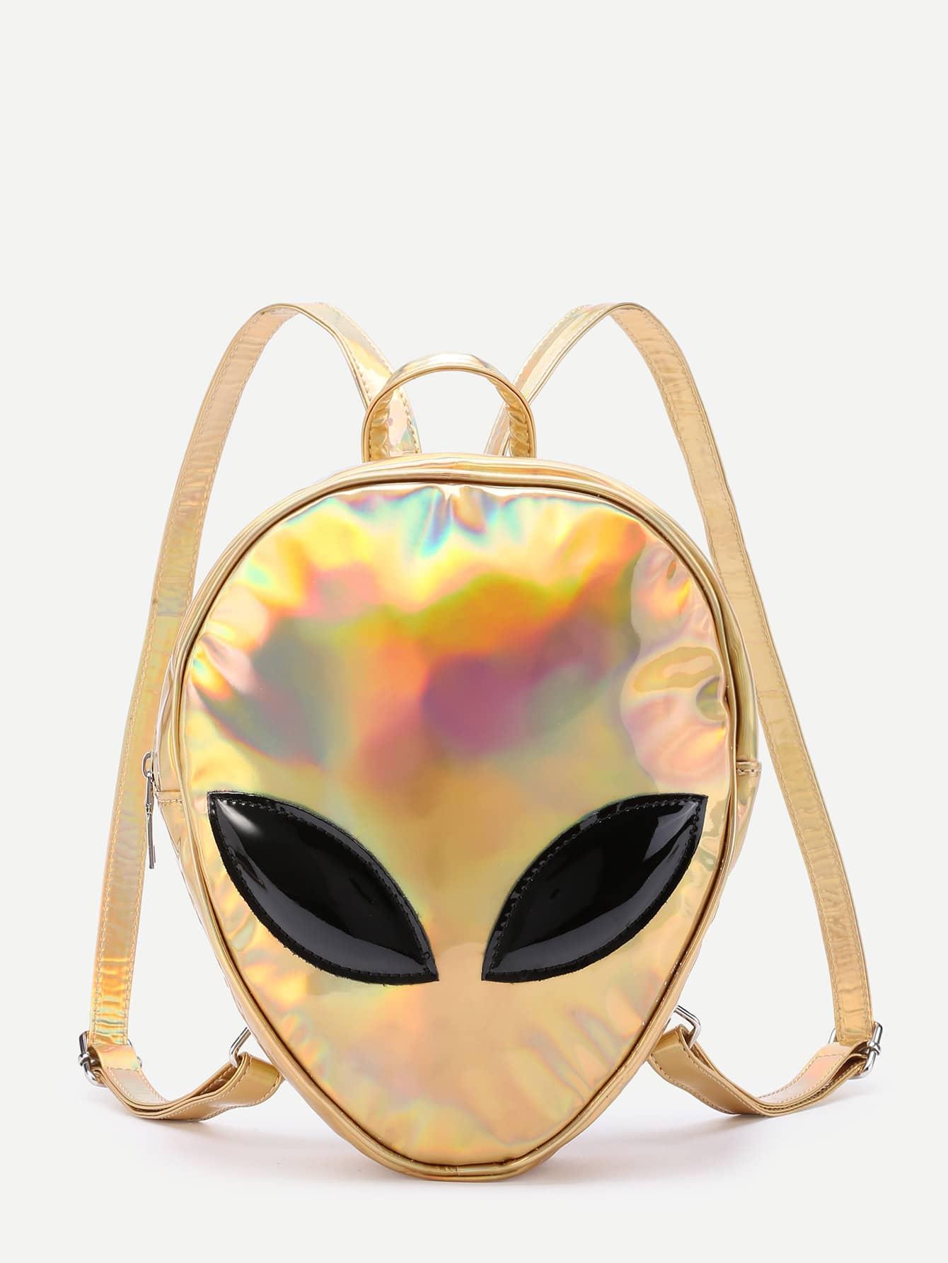 Фото Iridescent Alien Shaped PU Backpack. Купить с доставкой