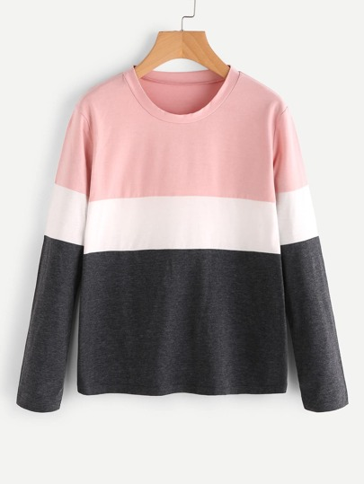 Camiseta de color block
