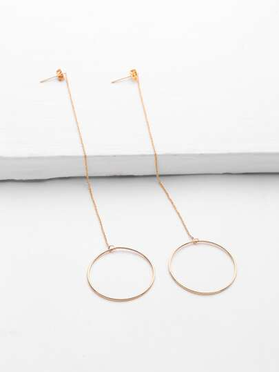 Ring Design Long Drop Earrings