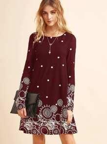Tunika Kleid mit Punktemuster