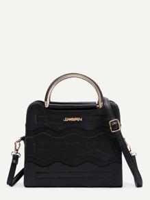 PU Grap Bag With Adjustable Strap