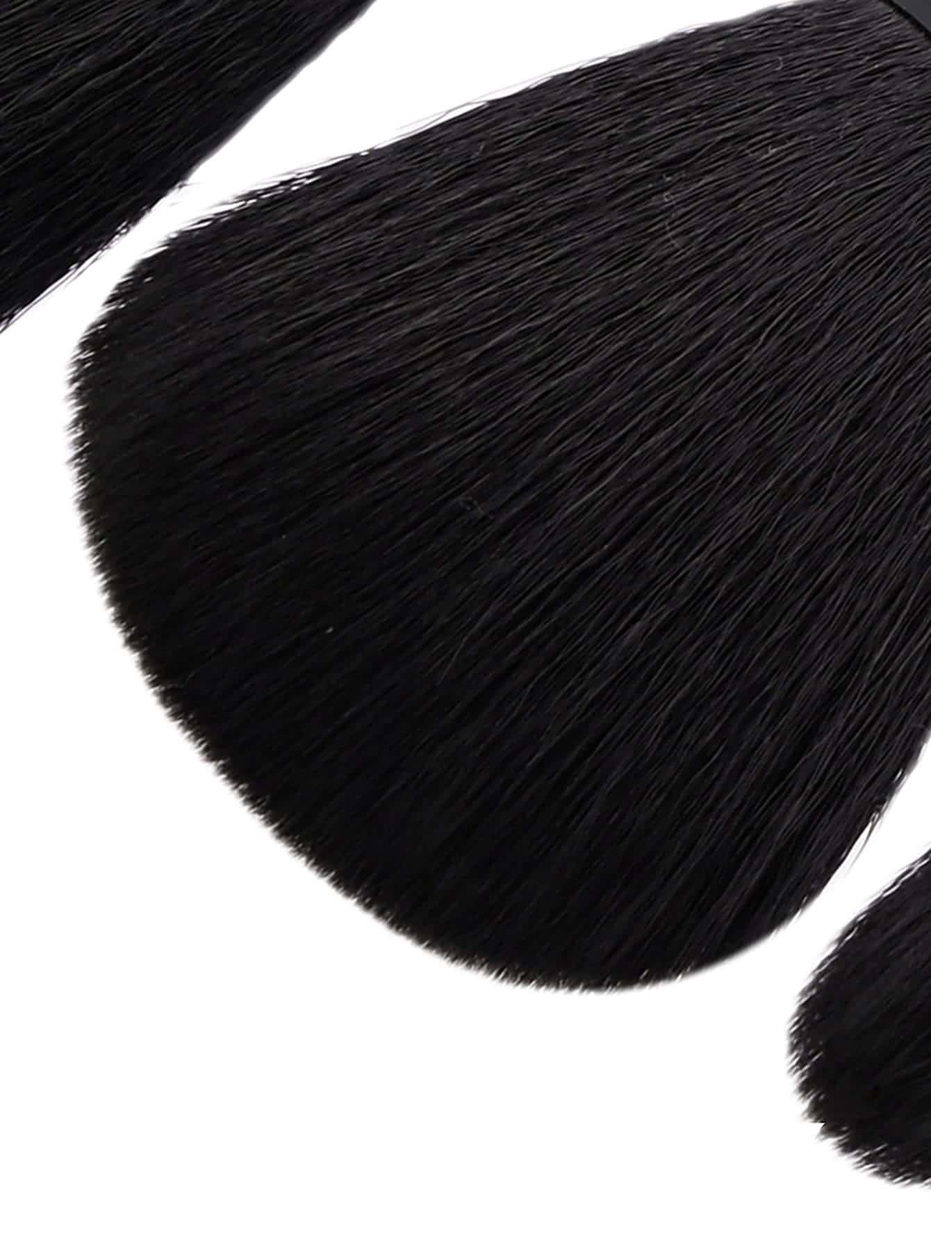 Professional 8pcs Faux Crystal Zircon Fiber Hair Makeup: Professional Makeup Brush 8pcs -SHEIN(SHEINSIDE