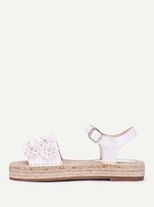 Sandalias con plataforma con adorno de flor