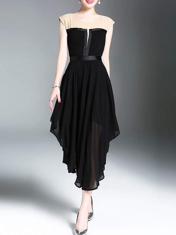 Фото Color Block Asymmetric Dress. Купить с доставкой
