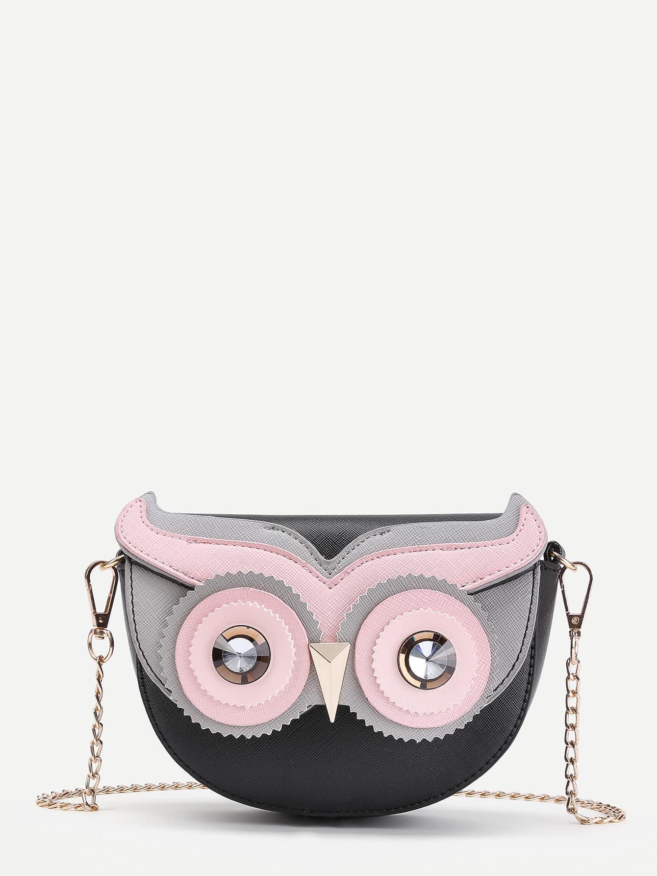 Фото Owl Design Flap Chain Cross Body Bag. Купить с доставкой