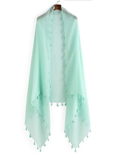 Tassel Trim Soft Scarf