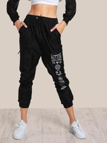 Drawstring Jogger Pants BLACK