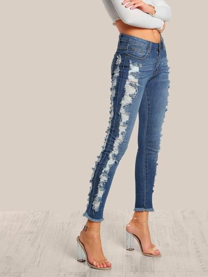 Distressed Skinny Jeans DENIM