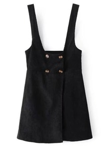 Double Breasted Pinafore Dress