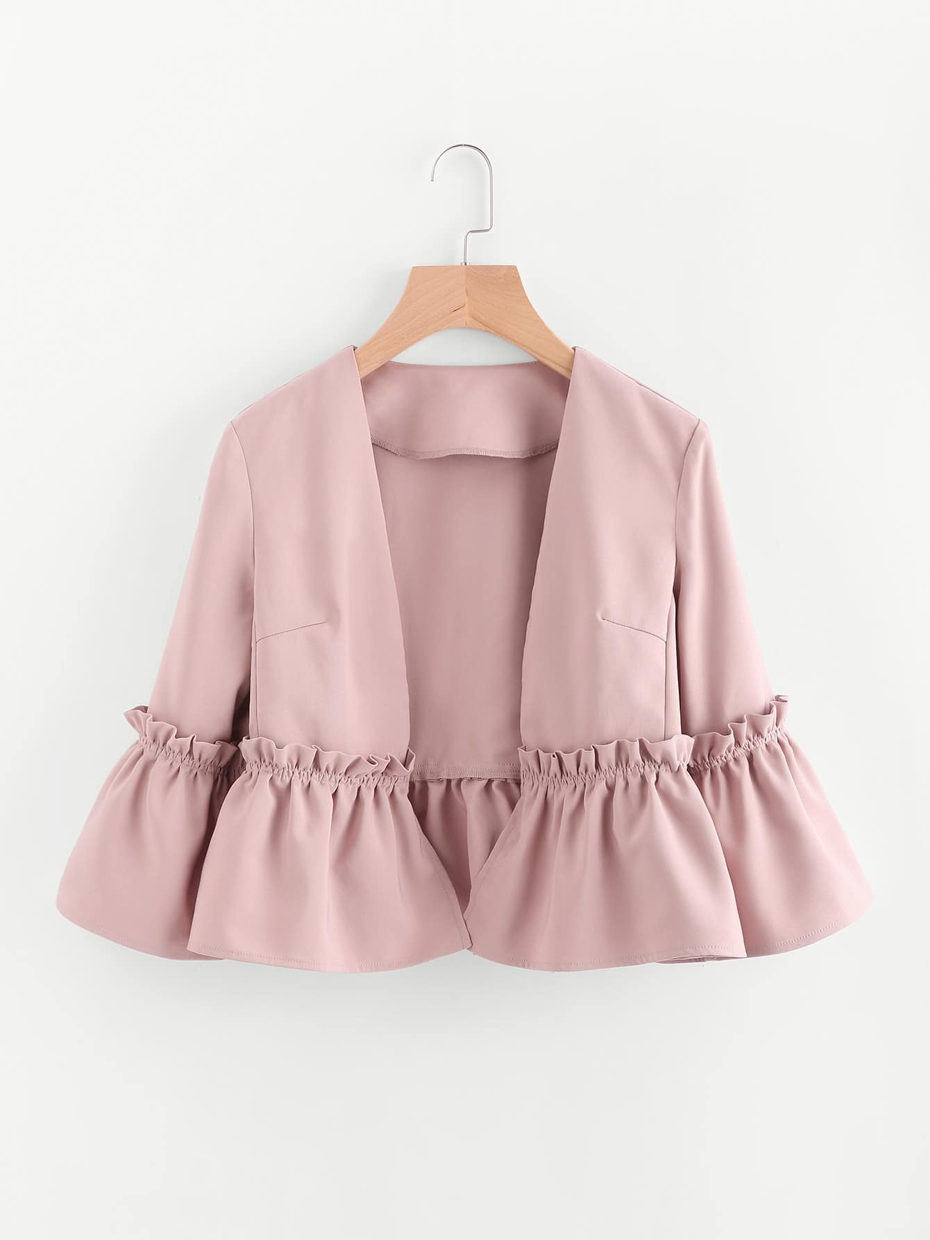 Image of Bell Sleeve Frill Detail Blazer