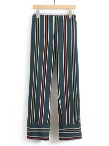 Pantalons à rayures jambe droite