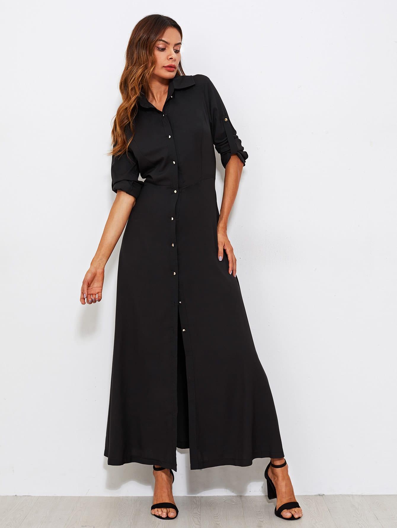 Roll Tab Sleeve Full Length Shirt Dress stoosh new salmon juniors roll tab sleeve plaid shirt s $34 dbfl