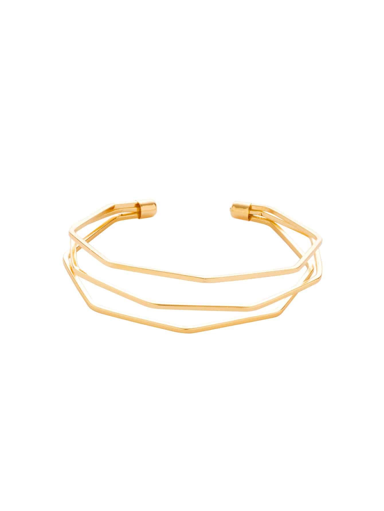 Layered Cuff Bracelet faux pearl detail layered cuff bracelet