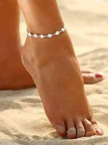 Rhinestone Embellished Chain Bracelet