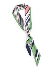Модный тонкий шарф с графическим принтом