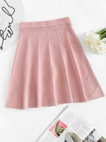 Elastic Waist Knit Skirt