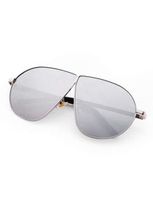 Contrast Bar Flat Lens Sunglasses